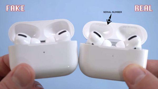Apple Airpods Pro серийный номер на зарядном кейсе