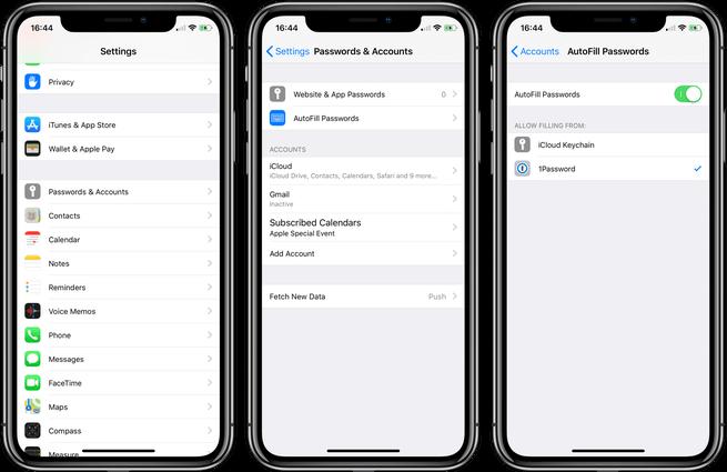 iOS 12: Как использовать сторонние приложения для автозаполнения паролей
